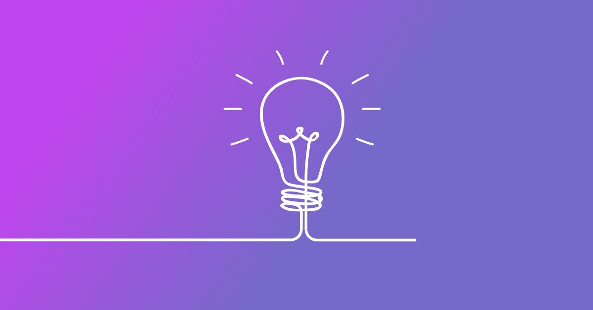 Small business creative thinking lightbulb